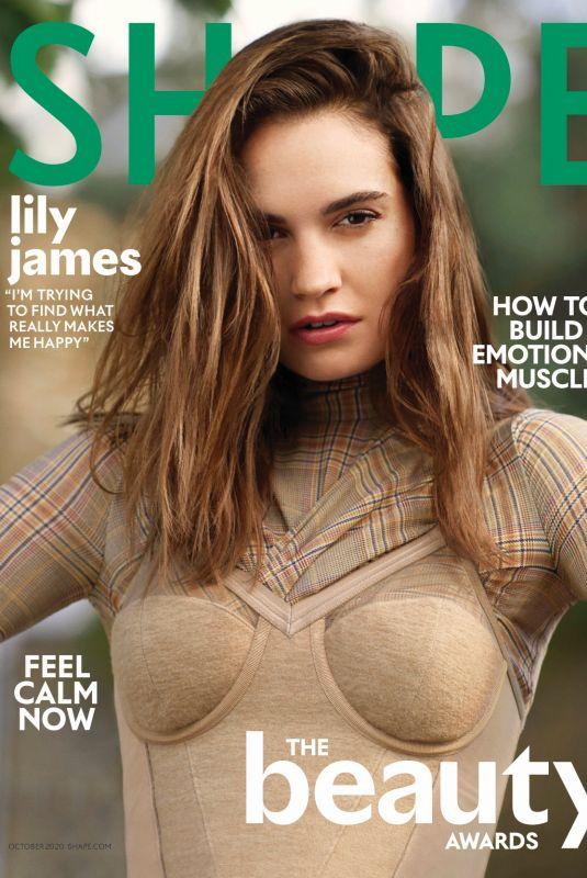 LILY JAMES in Shape Magazine, September 2020
