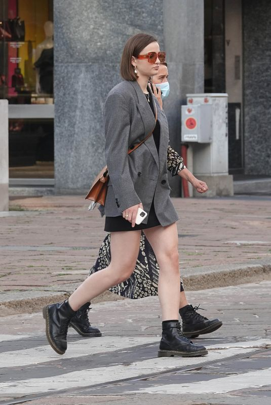 LISA VICARI Out at Milan Fashion Week 09/23/2020