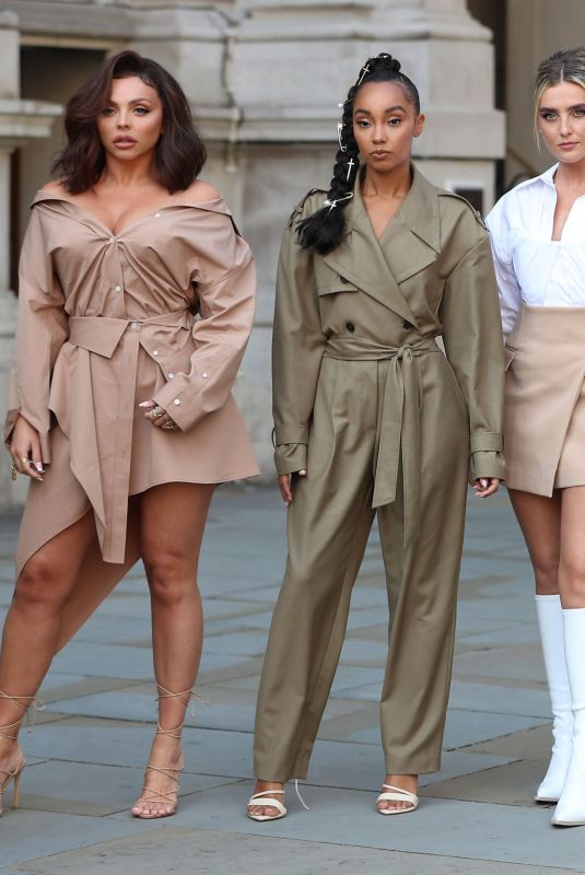 LITTLE MIX Arrives at BBC Radio One's Live Lounge Studio in London 09/15/2020