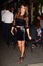 LIZZIE CUNDY at La Famiglia in Chelsea 09/08/2020