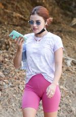 LUCY HALE Out Hiking in Los Angeles 09/28/2020