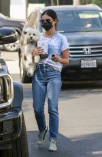 LUCY HALE Out with Her Dog in Sherman Oaks 09/27/2020