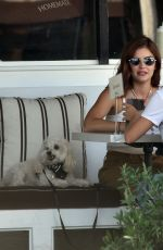 LUCY HALE Shows New Hair Color Out in Sherman Oaks 09/28/2020