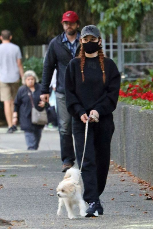 MADELAINE PETSCH Out with Her Dog in Vancouver 09/09/2020