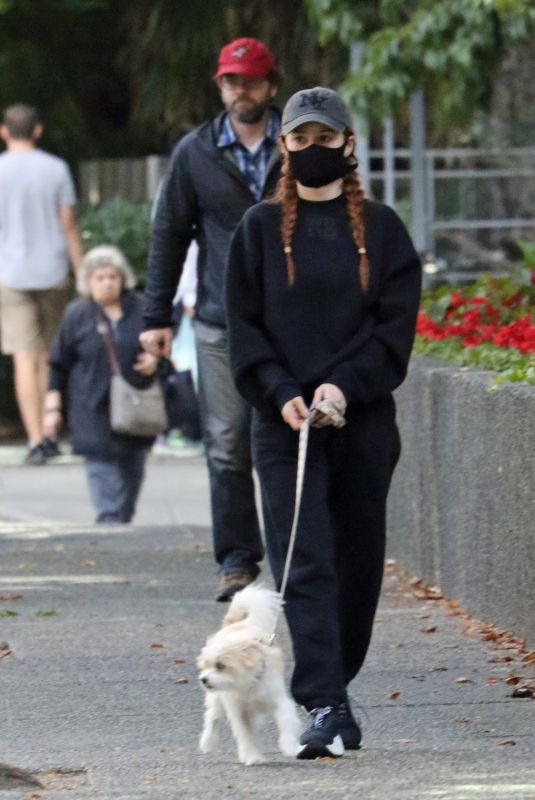 MADELAINE PETSCH Out with Her Dog Olive in Vancouver 09/07/2020
