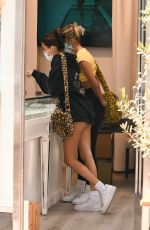 MADISON BEER in Shorts Out for Lunch in Beverly Hills 09/21/2020