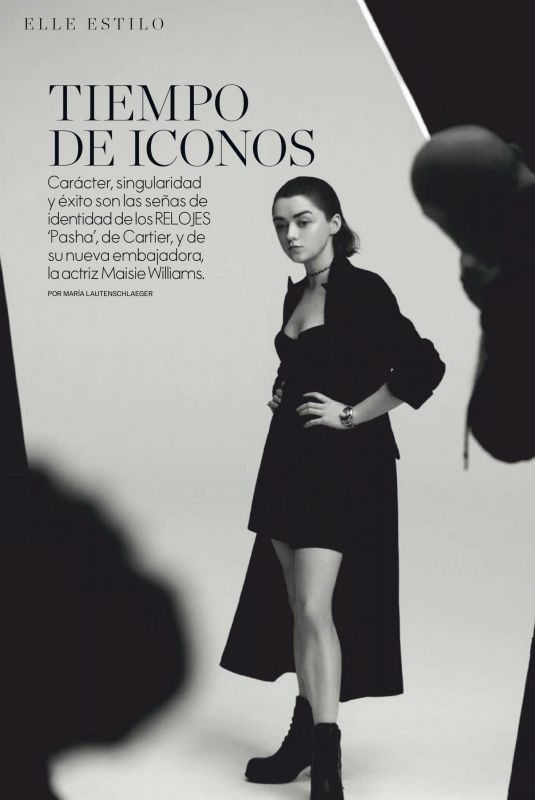 MAISIE WILLIAMS in Elle Magazine, Spain October 2020