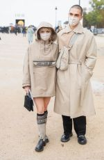 MAISIE WILLIAMS Leaves Dior Show at 2020 Paris Fashion Week 09/29/2020