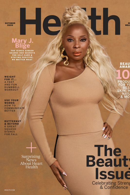 MARY J. BLIGE in Health Magazine, October 2020
