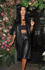 MAYA JAMA Leaves The Ivy Garden in Chelsea 09/14/2020