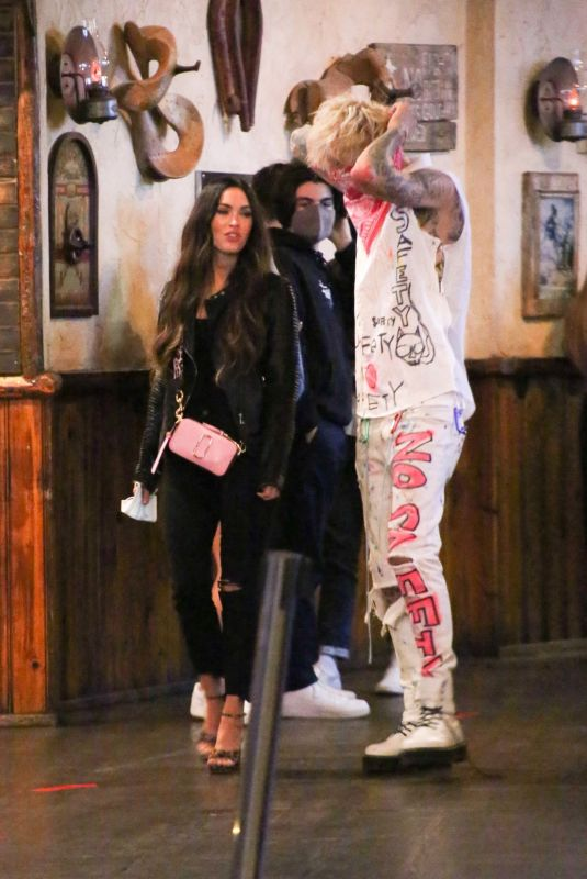 MEGAN FOX and Machine Gun Kelly at Saddle Ranch in West Hollywood 09/24/2020