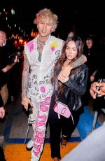 MEGAN FOX and Machine Gun Kelly Night Out in West Hollywood 09/24/2020