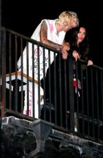 MEGAN FOX and Machine Gun Kelly on the Roof of The Roxy in West Hollywood 09/25/2020