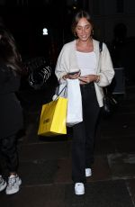 MEGAN MCKENNA Leaves Roka Restaurant in London 09/23/2020