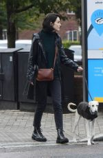 MICHELLE DOCKERY Out with Her Dog in London 09/29/2020