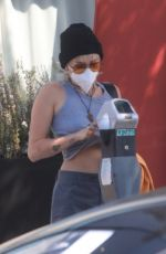 MILEY CYRUS Leaves a Hair Salon in Los Angeles 09/22/2020