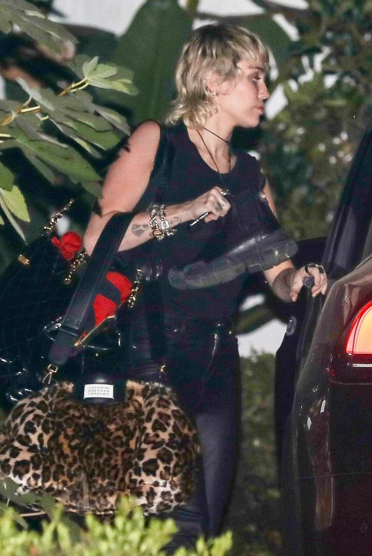 MILEY CYRUS Leaves a Photoshoot in Beverly Hills 09/15/2020