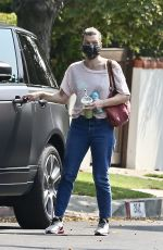 MILLA JOVOVICH Out and About in Los Feliz 09/16/2020