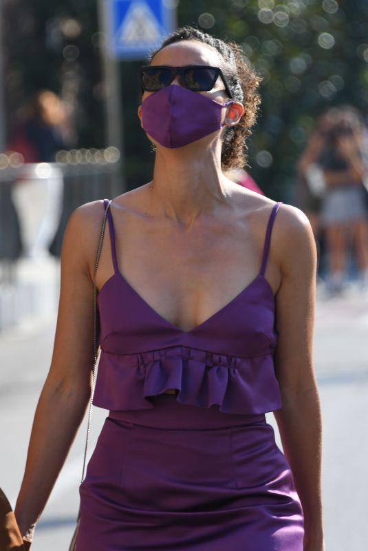 NATHALIE AMMANUEL Arrives at Hotel Excelsior in Venice 09/06/2020