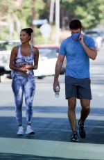NICOLE SCHERZINGER and Thom Evans Heading to a Gym in Los Angeles 08/26/2020