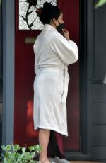 NIKKI BELLA Gets Tested for Covid-19 Outside Her House in Studio City 09/16/2020