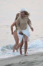 NIKKI LUND and :ADY VICTORIA HERBEY on the Set of Her You and I Music Video at a Beach in Malibu 09/21/2020