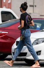 NINA DOBREV in Denim Leaves a Nail Salon in Sherman Oaks 09/09/2020