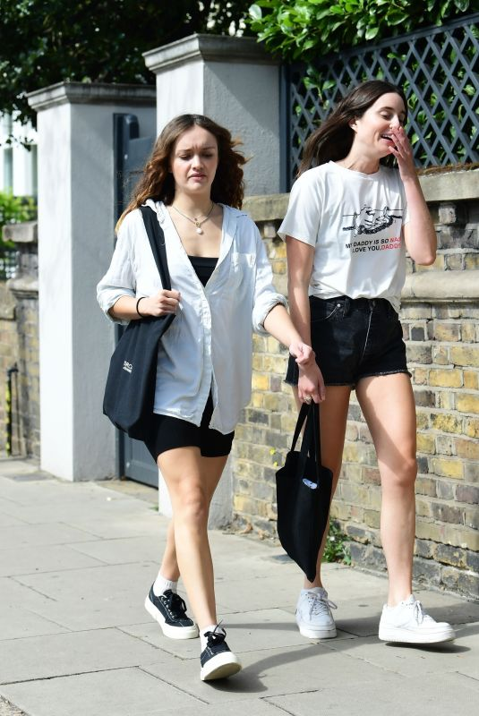 OLIVIA COOKE Out with a Friend in London 09/02/2020
