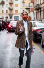 OLIVIA PALERMO Arrives at Etro Show at Milan Fashion Week 09/24/2020