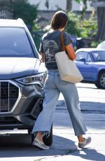 OLIVIA WILDE in Ripped Denim Out in Los Angeles 09/30/2020
