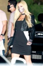 PARIS HILTON Out for Dinner in Malibu 09/26/2020