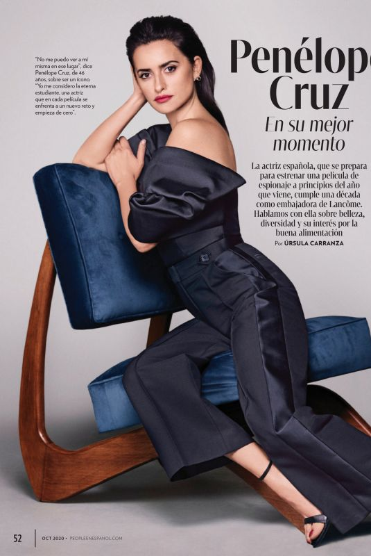 PENELOPE CRUZ in People en Espanol, October 2020