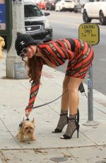 PHOEBE PRICE Out with Her Dog in Beverly Hills 09/11/2020