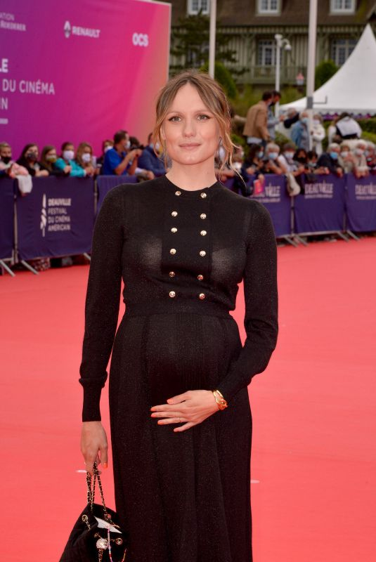 Pregnant ANA GIRARDOT at 46th Deauville American Film Festival Opening Ceremony 09/04/2020