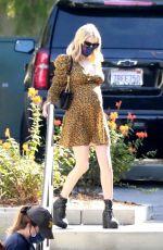 Pregnant EMMA ROBERTS at Starbucks in Los Feliz 09/19/2020
