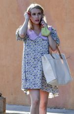 Pregnant EMMA ROBERTS Out and About in Los Angeles 09/29/2020