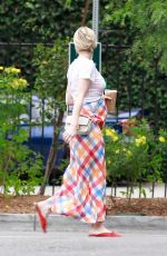 Pregnant EMMA ROBERTS Out and About in Los Feliz 09/08/2020