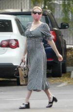 Pregnant EMMA ROBERTS Out for Coffee in Los Feliz 09/15/2020