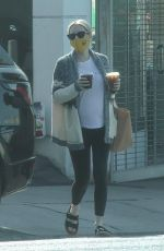 Pregnant EMMA ROBERTS Out for Coffee in Los Feliz 09/29/2020