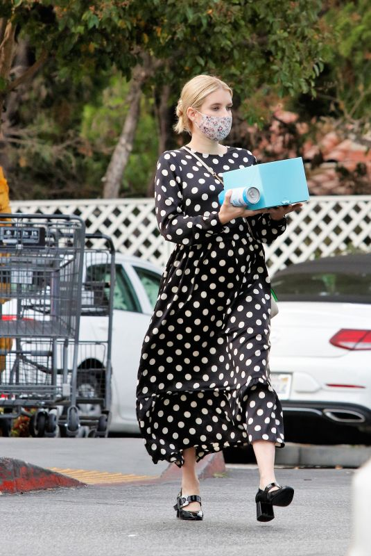 Pregnant EMMA ROBERTS Out Shopping in Los Angeles 09/08/2020