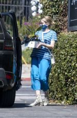 Pregnant EMMA ROBERTS Out Shopping in Los Feliz 09/25/2020