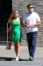 Pregnant JENNIFER LAWRENCE and Cooke Maroney Out and About in New York 9/05/2020