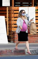 Pregnant RACHEL MCADAMS Out for Takeout Food in Los Angeles 09/17/2020