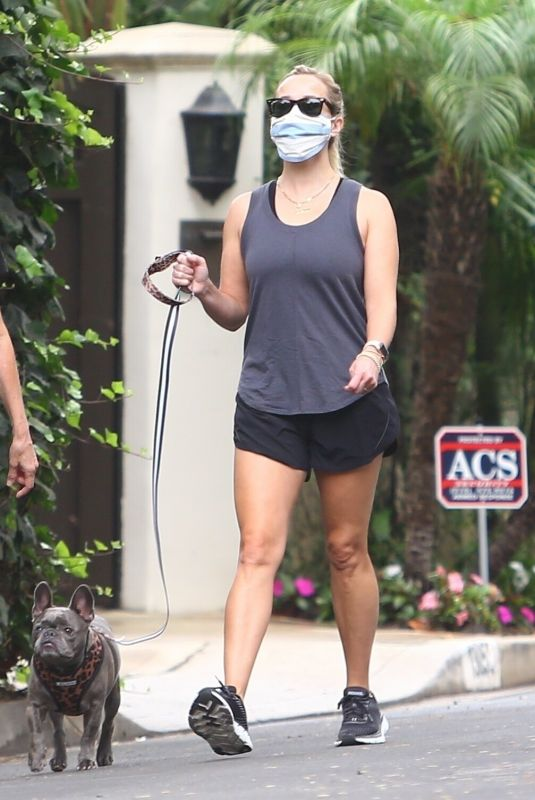 REESE WITHERSPOON Out with her Dog in Brentwood 09/08/2020