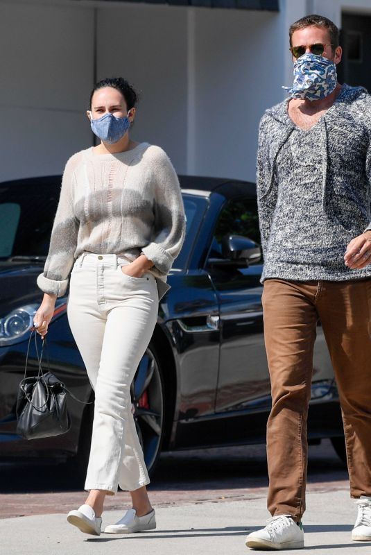 RUMER WILLIS and Armie Hammer Out in Los Angeles 09/02/2020