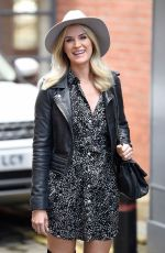 SARAH JAYNE DUNN in a Knee High Boots Out for Lunch in Alderley Edge 09/29/2020