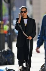 SHANINA SHAIK Out with her Dog in London 09/14/2020