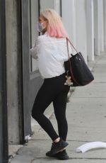 SHARNA BURGESS Arrives at DWTS Studios in Los Angeles 09/08/2020