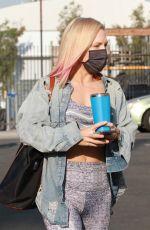 SHARNA BURGESS Arrivesa at DWTS Studio in Los Angeles 09/18/2020