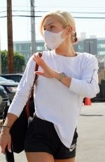 SHARNA BURGESS in Shorts at DWTS Rehersal in Los Angeles 09/29/2020